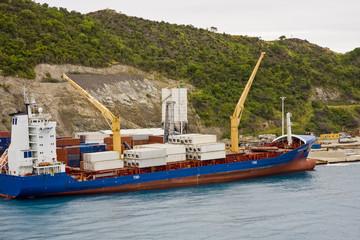 Freighter on Coast