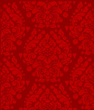 red curled symmetric background poster