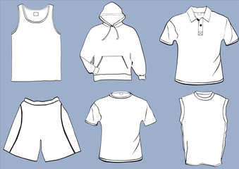 Set of templates with front and back