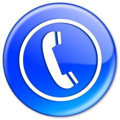 "Bouton ""Téléphone"" (bleu)"