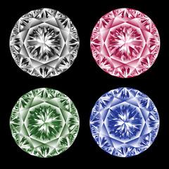 Colored diamonds.