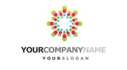 Colorful innovation company logo design