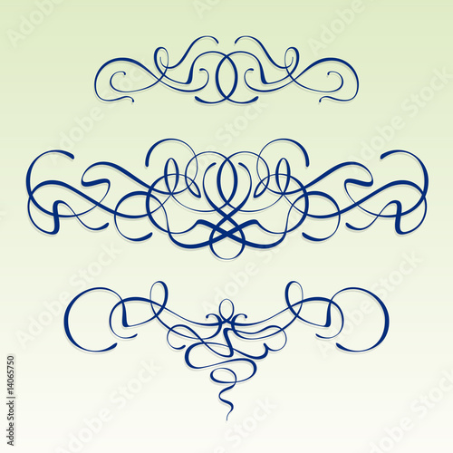 Art Nouveau Design Elements. Zoom Not Available: Vector images scale to any size. Modern style scrolls - Art nouveau design elements