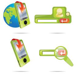 Green icon set 9