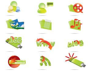 Green icon set 1