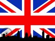 London over flag