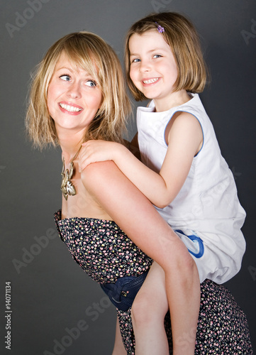 Shot of a Happy Mother and Daughter Together