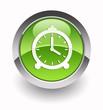 Clock glossy icon