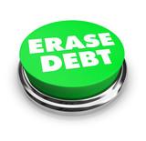 Erase Debt - Green Button poster