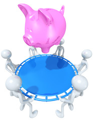 Safety Net Catching A Piggy Bank