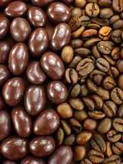 Kaffeebohnen, Schoko, Pralinen