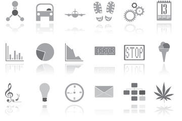 Metalic icons
