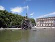 Fountain - Springbrunnen mit Schloss