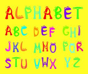 Funny alphabet for kids
