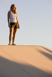 Beautiful Woman on a Sand Dune