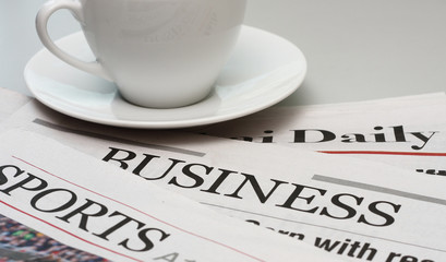 Business and sports newspapers