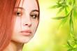 Beautiful redhead woman close-up potrait