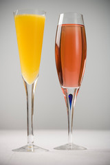 Mimosa and Kir Royal