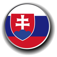 slovakia flag icon - vector button