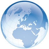 Europakarte und Weltkugel
