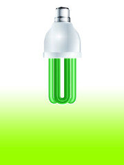 Green Eco friendly light bulb