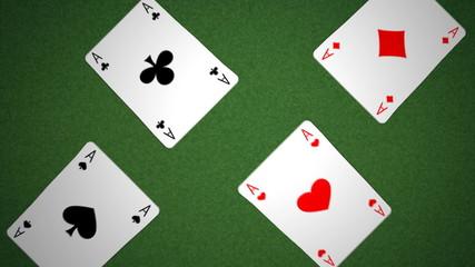 cards animation (four aces, royal flush)