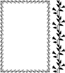 Vector decorative bindweed frame