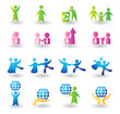 Set of people icons for design