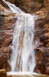 Waterfall Over Granite Rock - Slow Shutter Speed poster