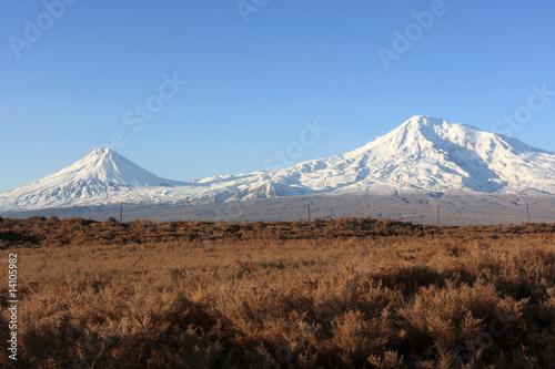 Leinwandbild Motiv Ararat in the morning
