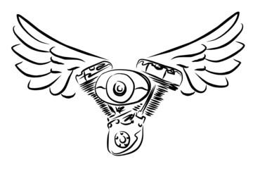 bicilindrico alato