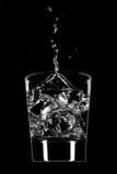 Clear beverage splash poster