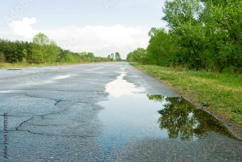 road after a rain