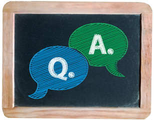 """""""Q. & A."""" on blackboard"""