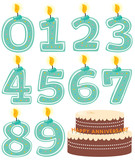 Anniversary Numeral Candle Set and Cake poster