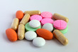 colorful pills assortment Tablets