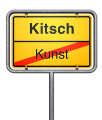 Kitsch sign
