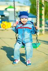 cute boy outdoor