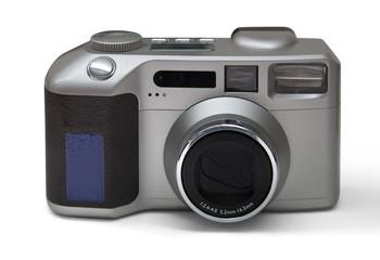 vintage camera against white