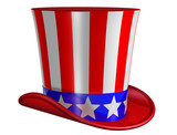 Isolated Top Hat for Uncle Sam poster