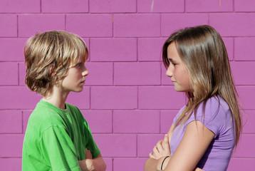 kids arguing, talking, or chatting