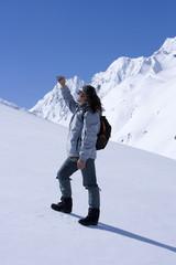 bergsteiger, winter, oetztal, tirol, oesterreich, fotografiert