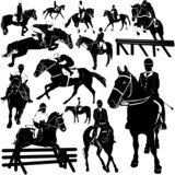 horse, equestrian vector poster
