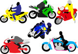 motorcycle riders vector