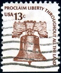 USA. Liberty Bell. Stamp.