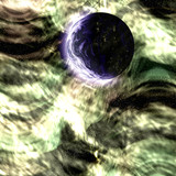 Cosmic space planet poster