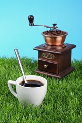 café nature fraichement moulu