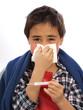 child having a flu