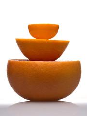 Orange pyramid on white background