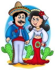 Mexican wedding couple